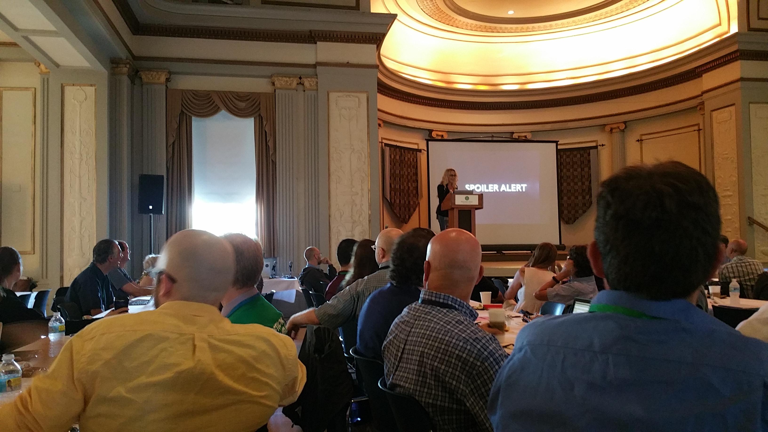 Brenda Romero hold konferansens absolutt beste keynote.