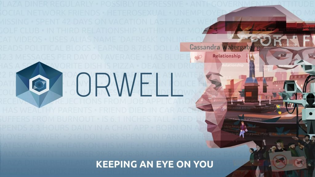 Bilderesultat for orwell keeping an eye on you