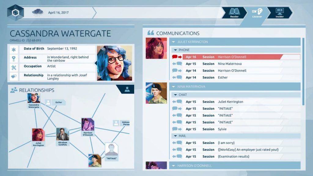 Orwell: Keeping an Eye on You (PC) Review • Back to the Gaming